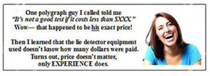 actual price quote Beverly Hills polygraph